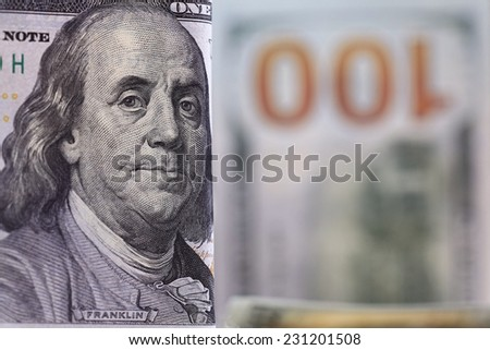 Money background of dollars in cash pile
