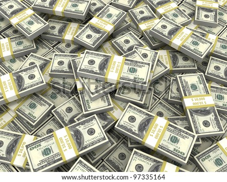 Money background us currency - stock photo