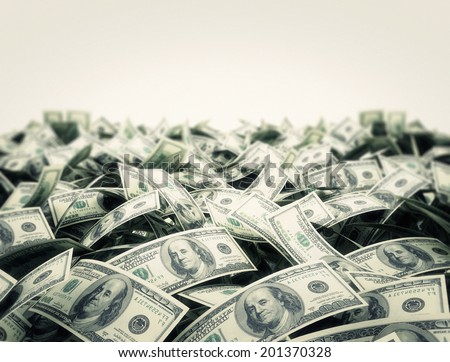 Money background with white copy space area  - stock photo
