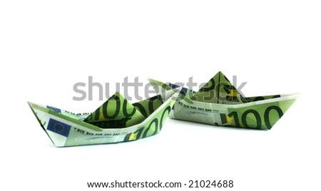 Money boats - stock photo