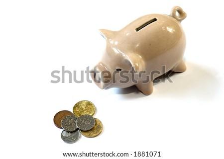 money-box - a pig - stock photo