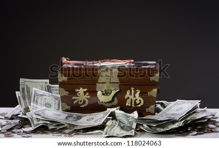 Money box and  Moneys