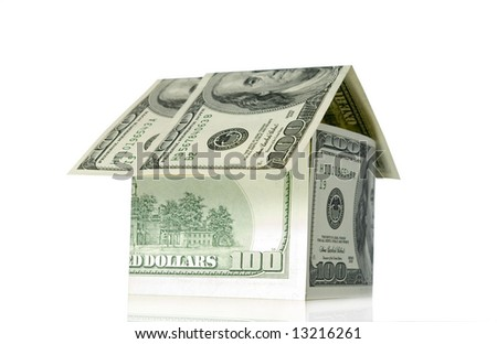 money building isolated on white