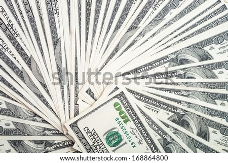 money cash as background from dollars usa - stock photo
