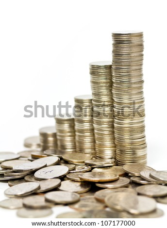 money chart - stock photo