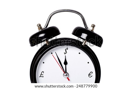 Money clock exchange - stock photo