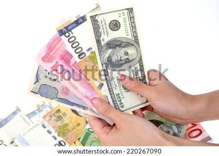 Money close-up  - stock photo