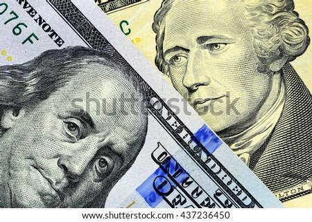 Money close-up. Dollar cash money - stock photo