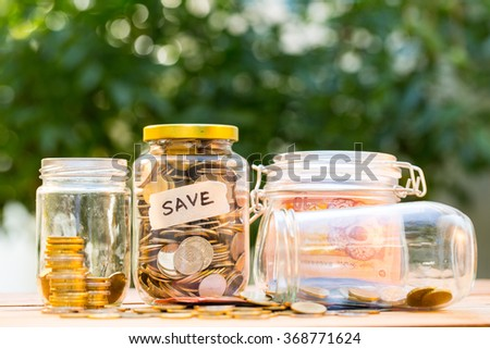 Money coin deposit of save money for prepare in the future. - stock photo
