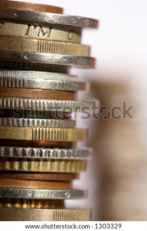 money coins in a pile