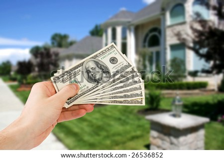 money concept with house in background