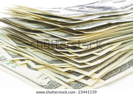 money concepts. stack of the hundreds dollars