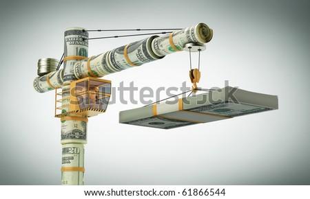 Money cran - stock photo