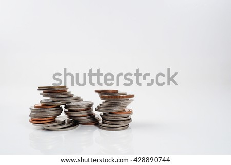Money create working every morning white background copy space. - stock photo