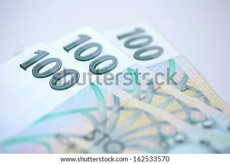 money Czech crown - stock photo