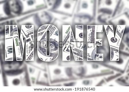 Money dollars creative conceptual illustration - stock photo