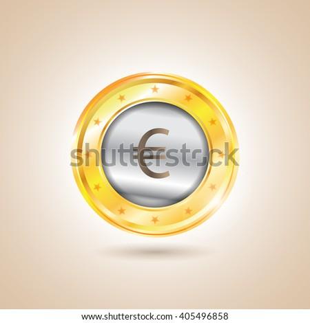 Money - euro coins. Illustration - stock photo