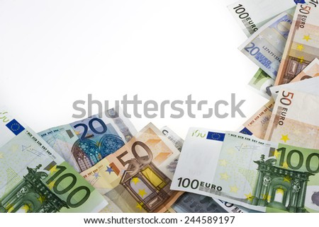 money euros frame