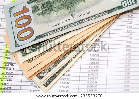 money for the loan repayment schedule - stock photo