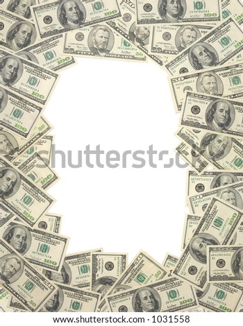 money frame - stock photo