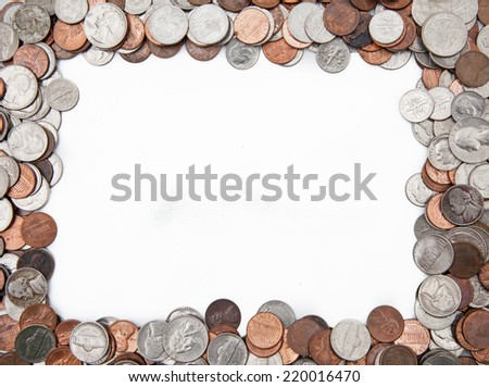 Money frame - stock photo