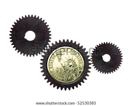 Money Gears - stock photo