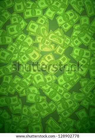 money green background - stock photo