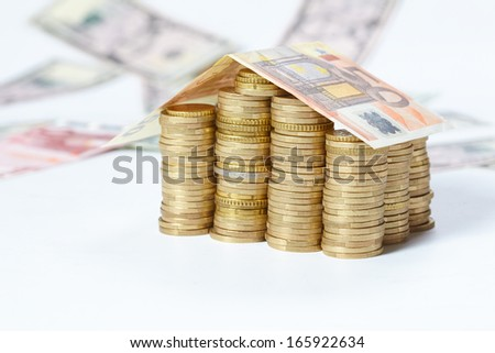 money house - stock photo