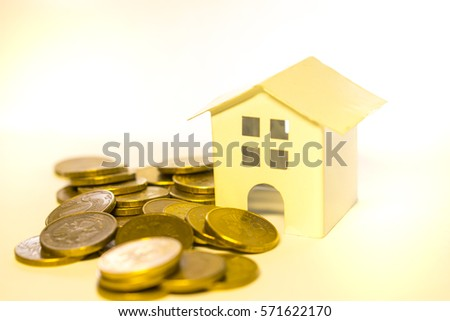 money, house white background isolate mortgages