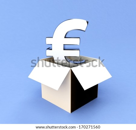 Money in a box - stock photo