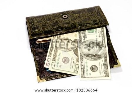 money in a purse - stock photo