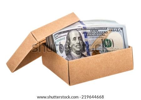 money in box - stock photo