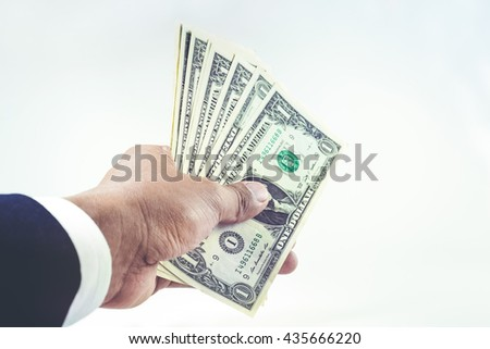 Money in businessman  hand.For business and financial concept.