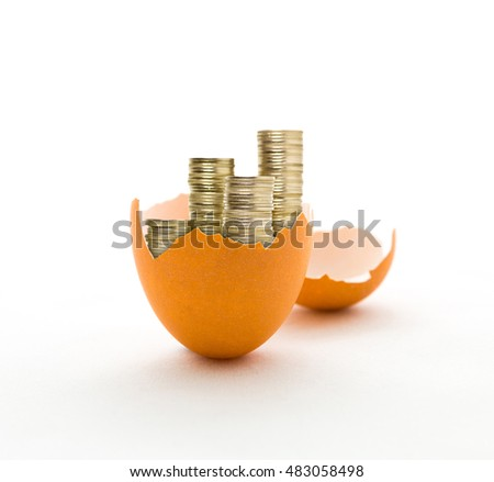 money in eggshell, growing money