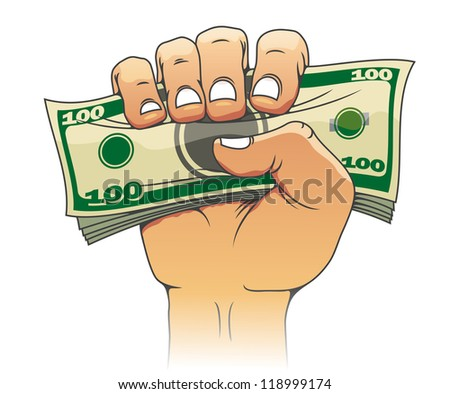 Money in people hand for investment concept design - stock photo