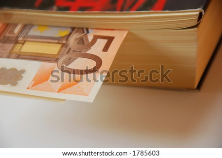 """money """"in the book"""" - stock photo"""