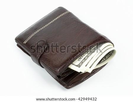 money in wallet - stock photo