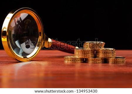 money investigation - stock photo