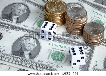 Money investing is a risky business - stock photo