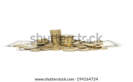 Money isolated on white background - stock photo