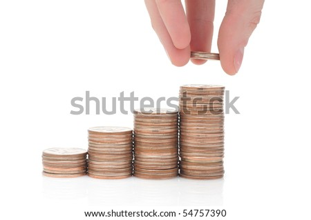 Money isolated over white