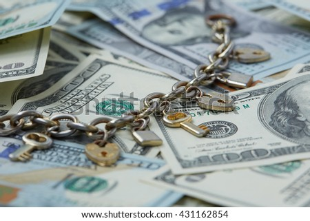 money - keys and locks