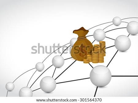 money link sphere network connection concept illustration design graphic background - stock photo
