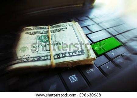Money Logo Stock Photo - stock photo