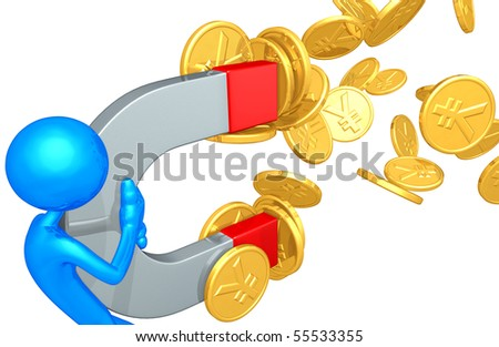 Money Magnet Concept - stock photo
