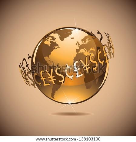 Money makes the world go around. jpg.  - stock photo