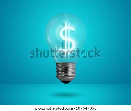 Money making idea. Light bulb with Dollar symbol. - stock photo