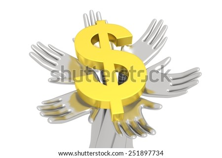 money on a solid Foundation - stock photo