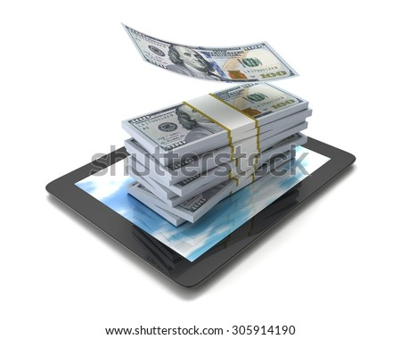 "Money on the Tablet PC ""dollar"""