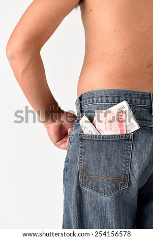Money pouch - stock photo
